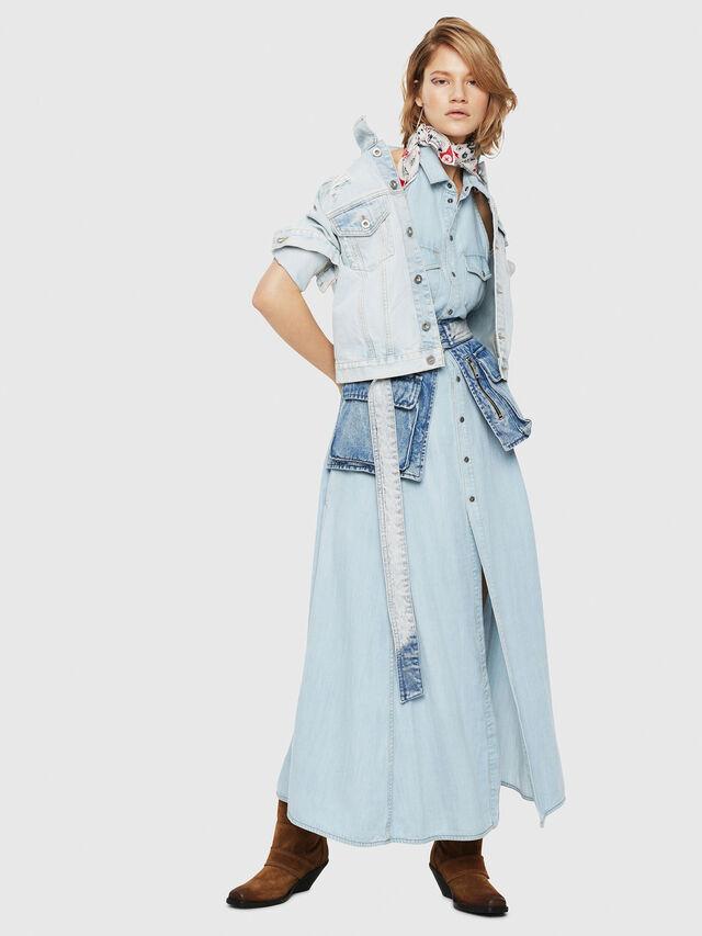 Diesel - DE-VELVET, Blue Jeans - Denim Jackets - Image 4