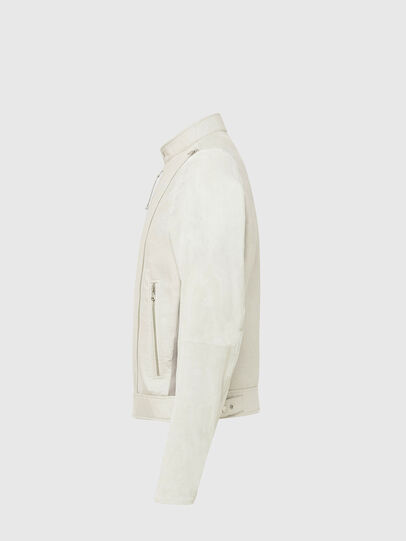 Diesel - L-CROME, White - Leather jackets - Image 3