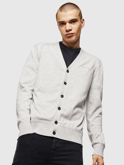 Diesel - K-MILOK, Light Grey - Knitwear - Image 1