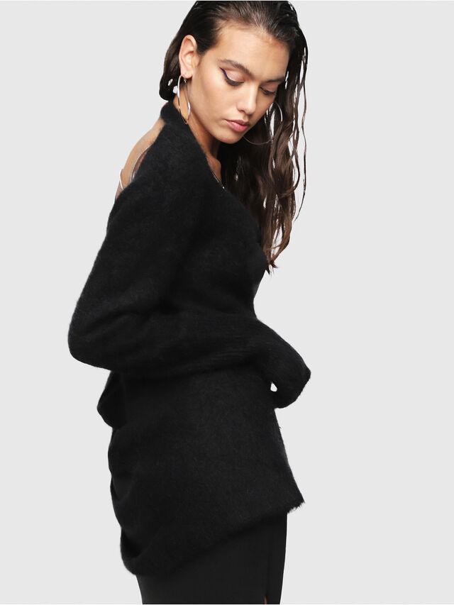 Diesel - M-GIORGIA, Black - Knitwear - Image 3