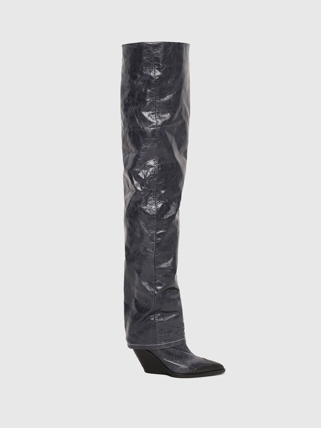 dfba354598b D-WEST OTK Women: Cowboy boots in leather | Diesel