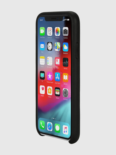 Diesel - DIESEL LEATHER CO-MOLD CASE FOR IPHONE XS & IPHONE X, Black - Cases - Image 3