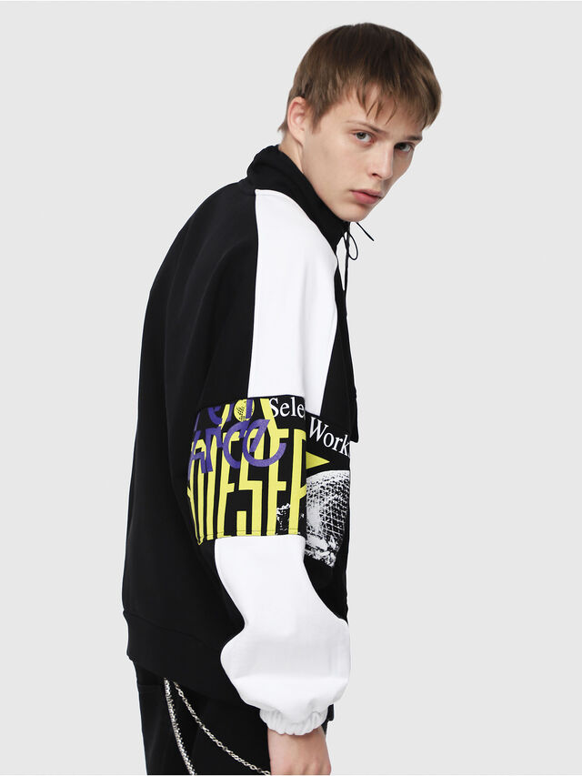 Diesel - S-YOSHIMO, Black/White - Sweaters - Image 3