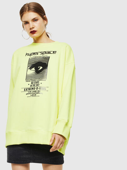 Diesel - F-AKUA, Yellow Fluo - Sweaters - Image 1
