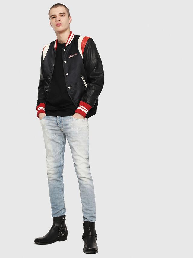 Diesel - L-HARU, Black/Red - Leather jackets - Image 4