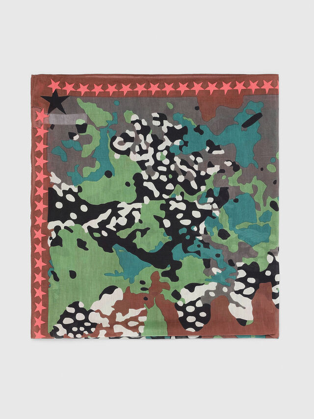 Diesel - S-MIME, Green Camouflage - Scarf - Image 2