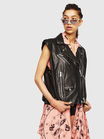 Diesel - L-DROPPET,  - Leather jackets - Image 1