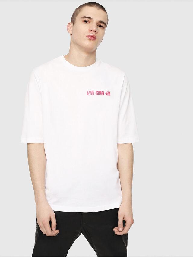 Diesel - T-YOSHIMI, White/Pink - T-Shirts - Image 1