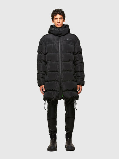 Diesel - W-RUSSELL-LONG, Black - Winter Jackets - Image 1