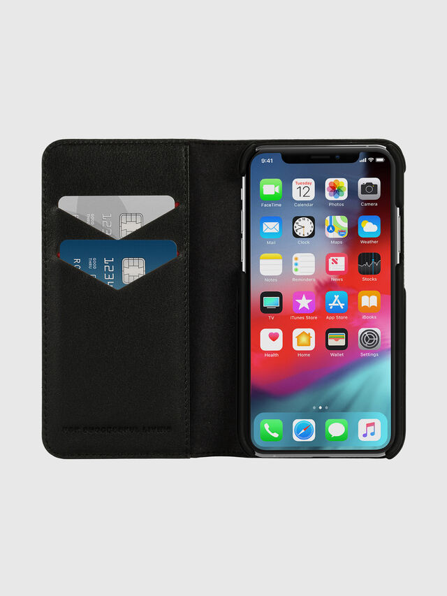 Diesel - DIESEL 2-IN-1 FOLIO CASE FOR IPHONE XS & IPHONE X, Black/White - Flip covers - Image 7
