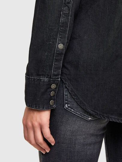 Diesel - DE-RINGY, Black - Denim Shirts - Image 4