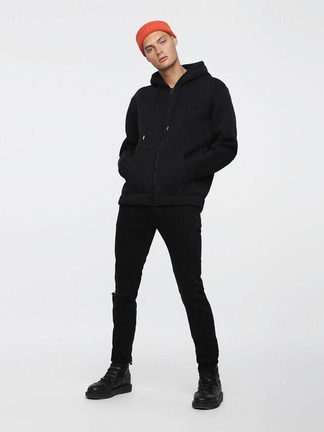 Diesel - S-GORDON-ZIP, Opaque Black - Sweaters - Image 4