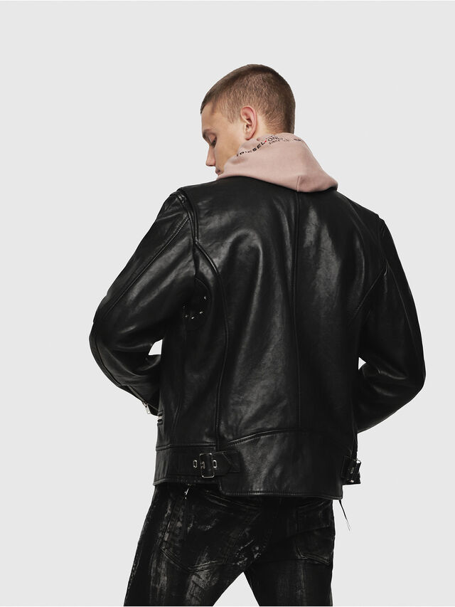 Diesel - L-KOJI, Black - Leather jackets - Image 2