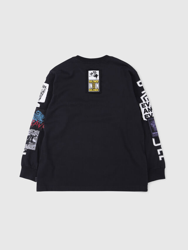 Diesel - TJUSTLSWA OVER, Black - T-shirts and Tops - Image 2