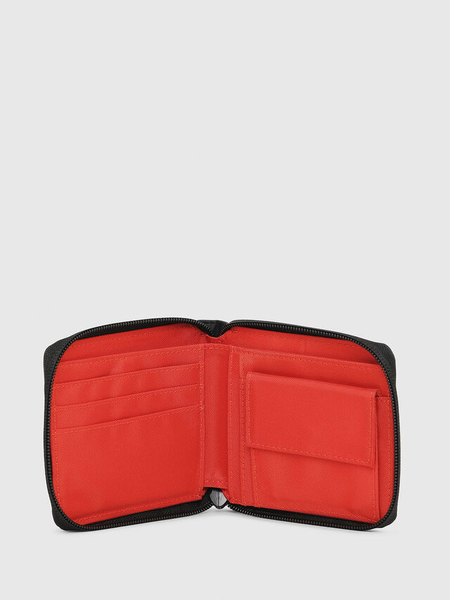 Diesel - ZIPPY HIRESH S, Black/Red - Zip-Round Wallets - Image 3