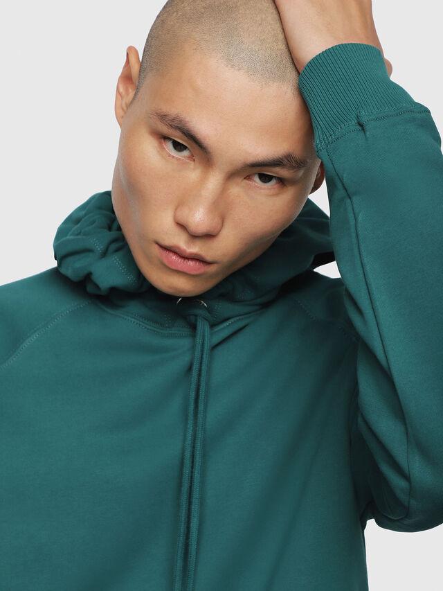 Diesel - S-GIM-HOOD-A, Dark Green - Sweaters - Image 4