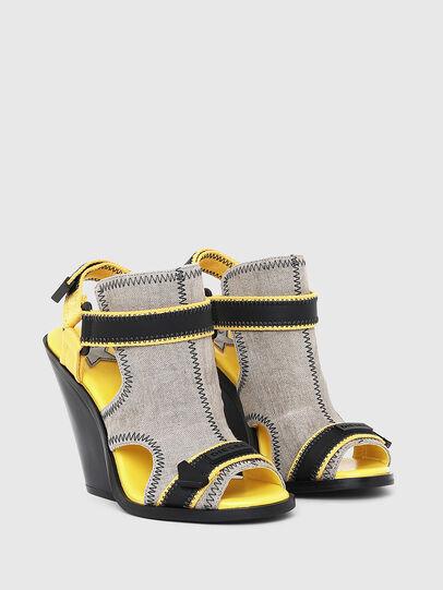 Diesel - SA-FLAMINGO HS, Gray/Black - Sandals - Image 2