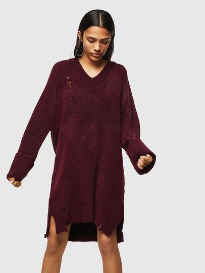 Diesel - M-NOELIA, Burgundy - Knitwear - Image 1