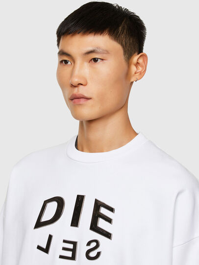 Diesel - S-MART-A90, White - Sweaters - Image 3