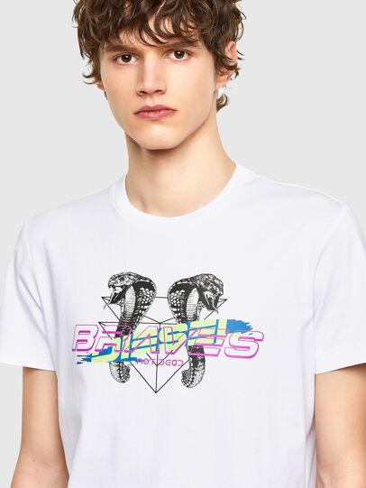 Diesel - T-DIEGOS-E35, White - T-Shirts - Image 3