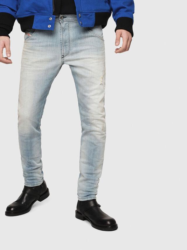 Diesel - Krooley JoggJeans 087AB, Light Blue - Jeans - Image 1
