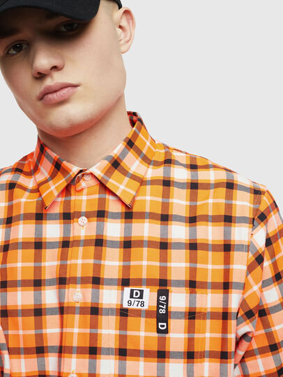 Diesel - S-ATWOOD-A, Orange - Shirts - Image 3