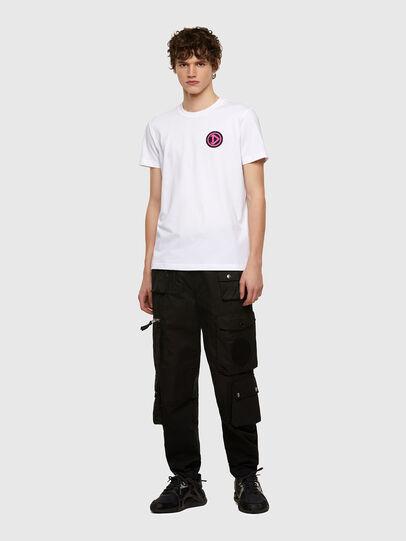 Diesel - T-DIEBIND-E1, White - T-Shirts - Image 4