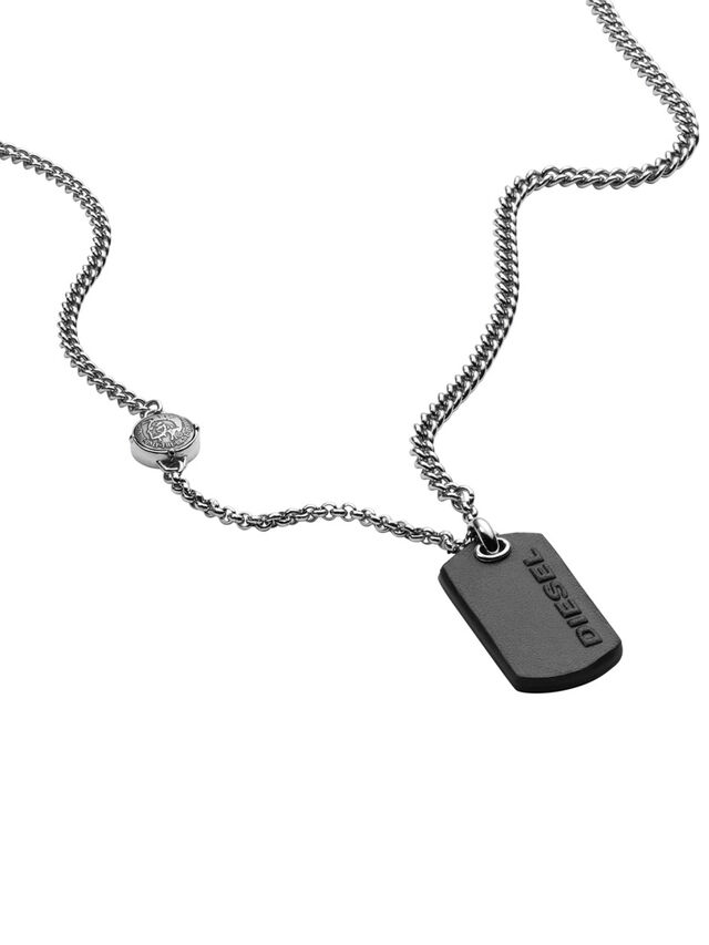 Diesel NECKLACE DX1012, Silver - Necklaces - Image 2