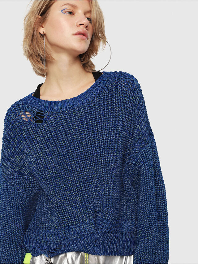 Diesel - M-BABI, Brilliant Blue - Knitwear - Image 4