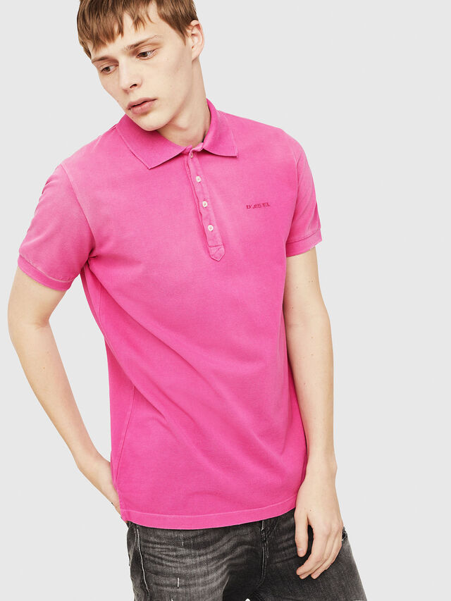 Diesel - T-NIGHT-BROKEN, Hot pink - Polos - Image 1