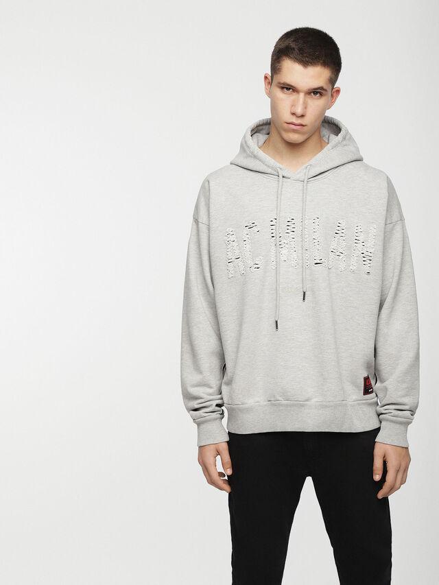 Diesel - DVL-SIZIP-CAPSULE, Grey - Sweaters - Image 1