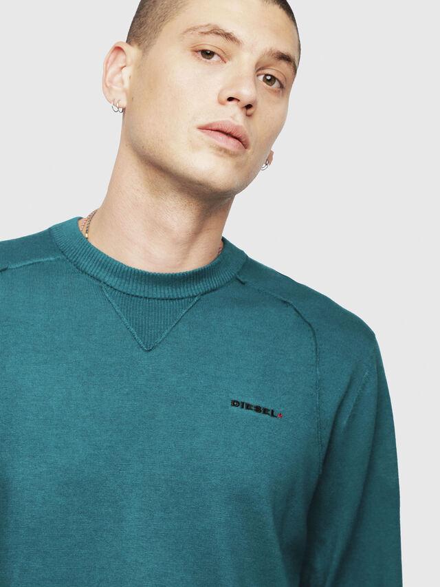 Diesel - K-LAUX, Dark Green - Knitwear - Image 3
