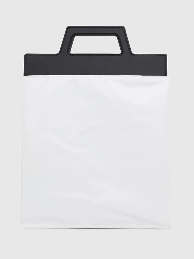 Diesel - F-ARZI SHOPPER, White/Black - Shopping and Shoulder Bags - Image 2