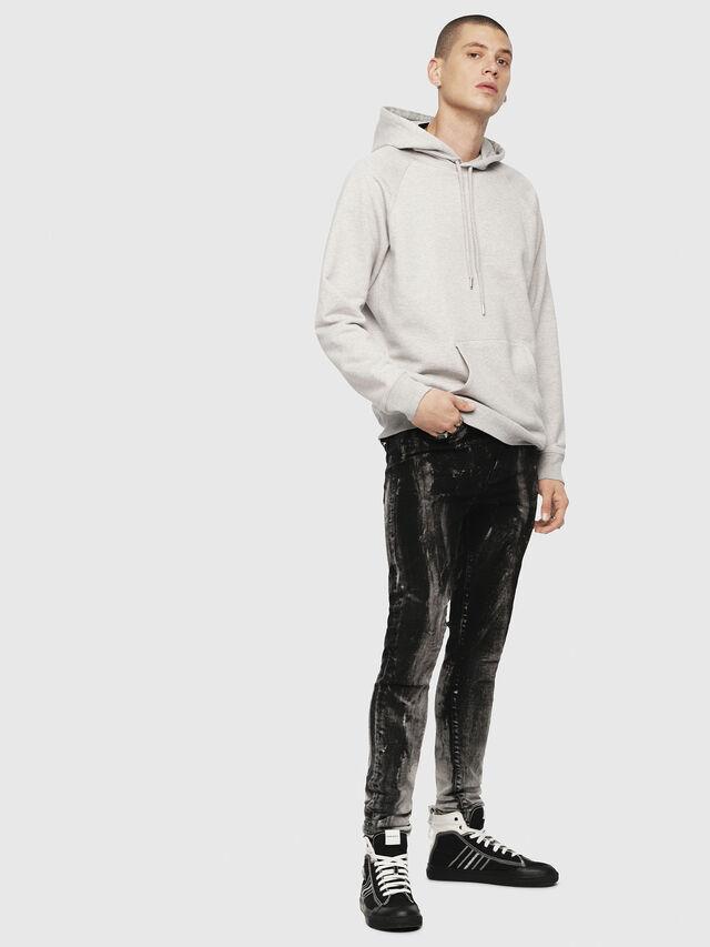 Diesel - S-GIM-HOOD-A, Light Grey - Sweaters - Image 4