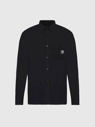 Diesel - S-BILL-POCKET, Black - Shirts - Image 1