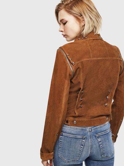 Diesel - L-TAHALI, Brown - Leather jackets - Image 2