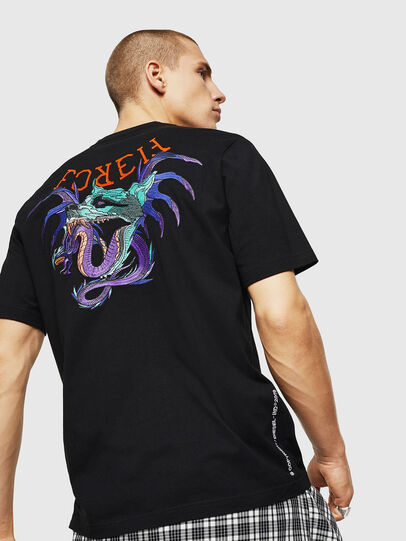 Diesel - T-JUST-BX7, Black - T-Shirts - Image 2