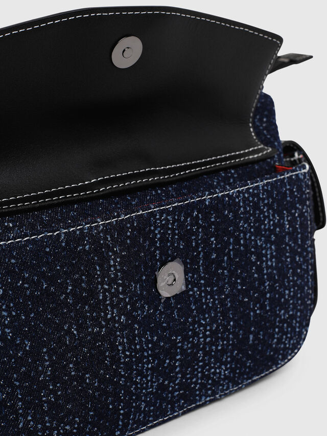 Diesel - MISS-MATCH SATCHEL M, Blue Jeans - Satchels and Handbags - Image 5