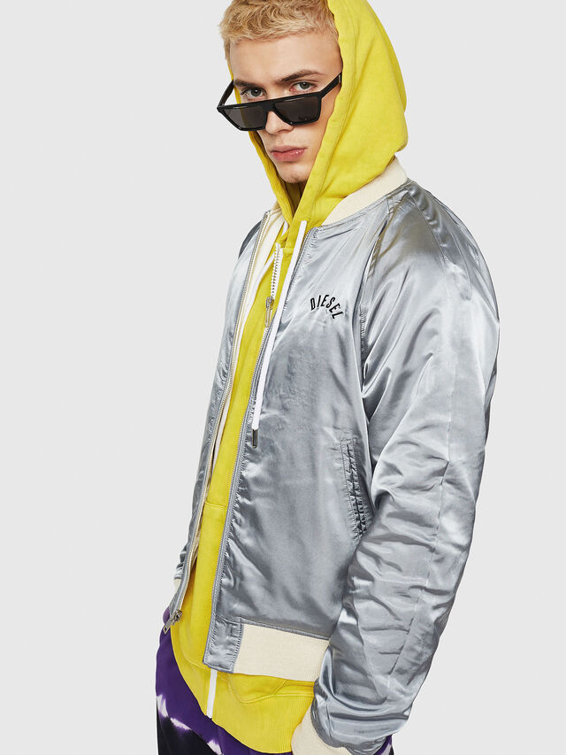Diesel - J-NAO-FUT, White - Jackets - Image 5