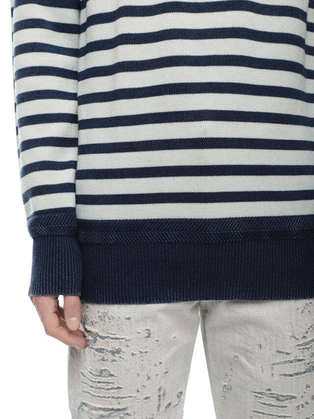 Diesel - KISTREET, Blue/White - Knitwear - Image 4