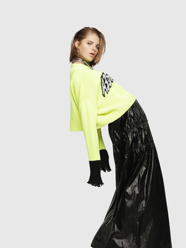 Diesel - M-TICX, Yellow Fluo - Knitwear - Image 3