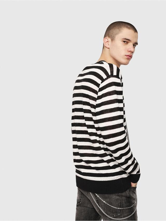Diesel - K-MICROXX, Black/White - Knitwear - Image 3