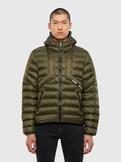 Diesel - W-DWAIN, Military Green - Winter Jackets - Image 1