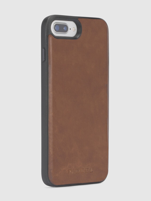 Diesel - BROWN LEATHER IPHONE X CASE, Brown - Cases - Image 5