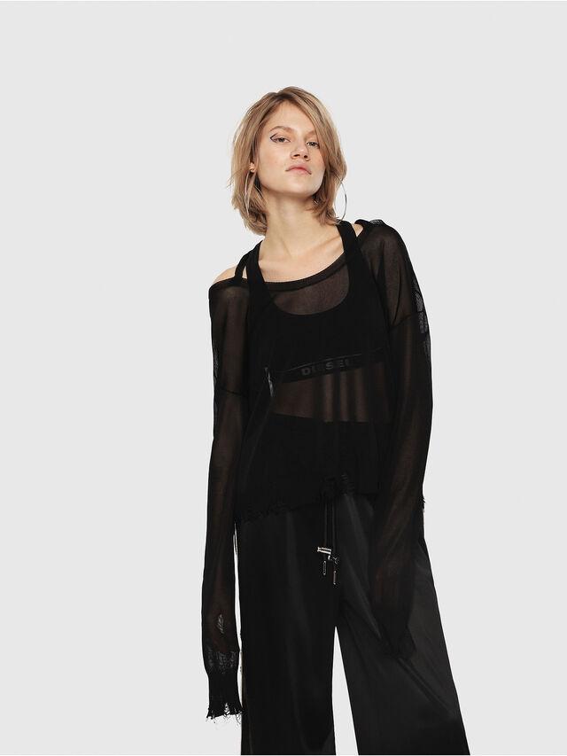 Diesel - M-ALPY-A, Black - Knitwear - Image 1