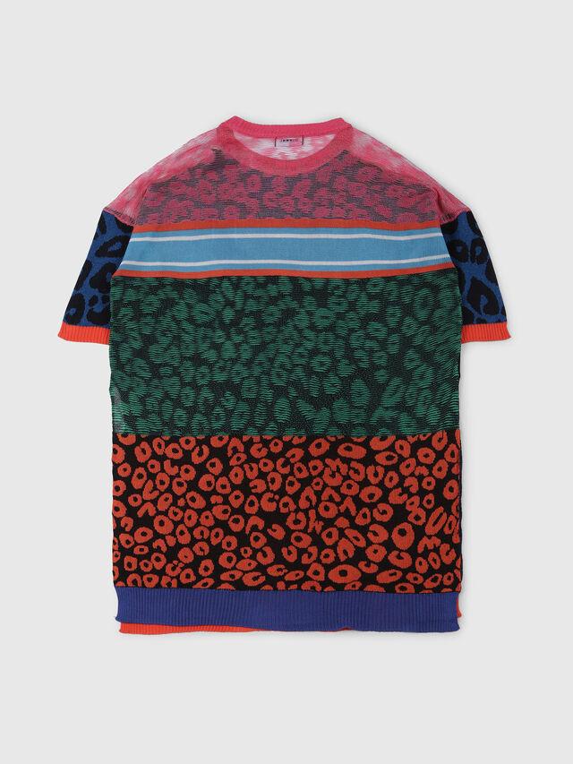 Diesel - KMLEO, Black/Multicolor - Knitwear - Image 2