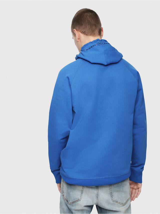 Diesel - S-GIM-HOOD-A, Brilliant Blue - Sweaters - Image 2