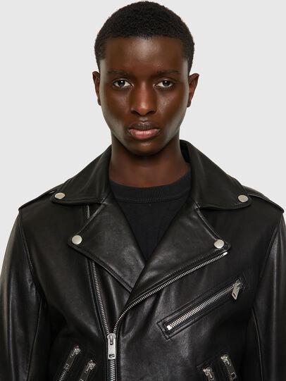 Diesel - L-GARRETT-A, Black - Leather jackets - Image 5