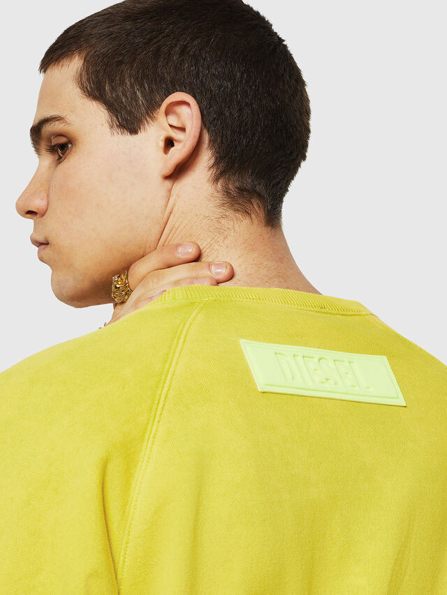 Diesel - S-RODD, Yellow Fluo - Sweaters - Image 4