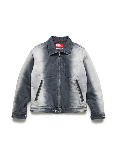 Diesel - GR02-J301, Grey/White - Denim Jackets - Image 1
